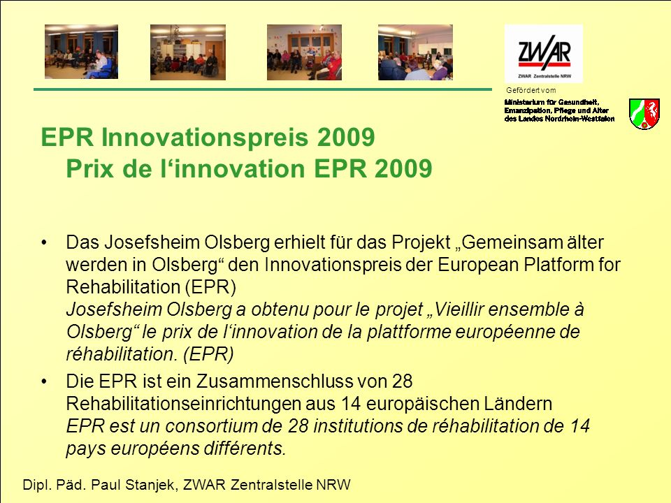 EPR Innovationspreis 2009 Prix de l'innovation EPR 2009