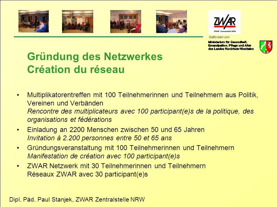 Gründung des Netzwerkes Création du réseau