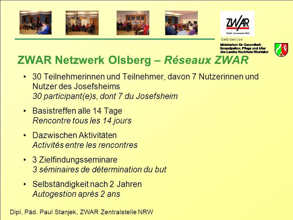 ZWAR Netzwerk Olsberg – Réseaux ZWAR
