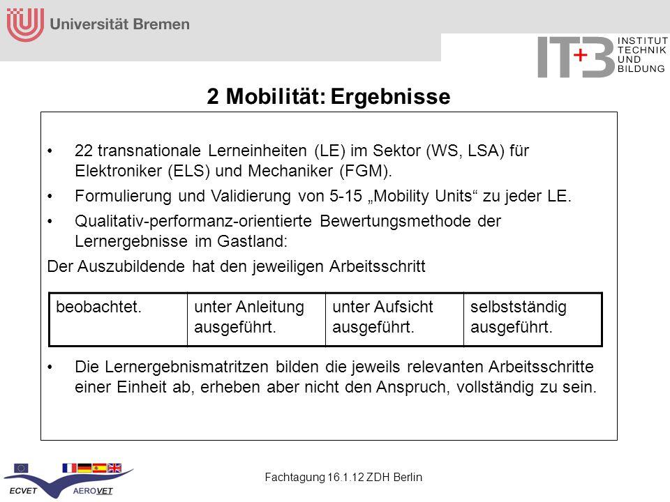 2 Mobilität: Ergebnisse