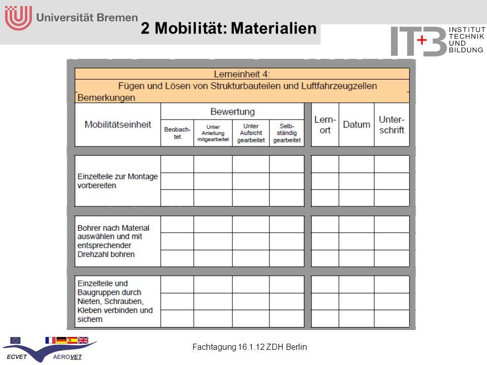 2 Mobilität: Materialien