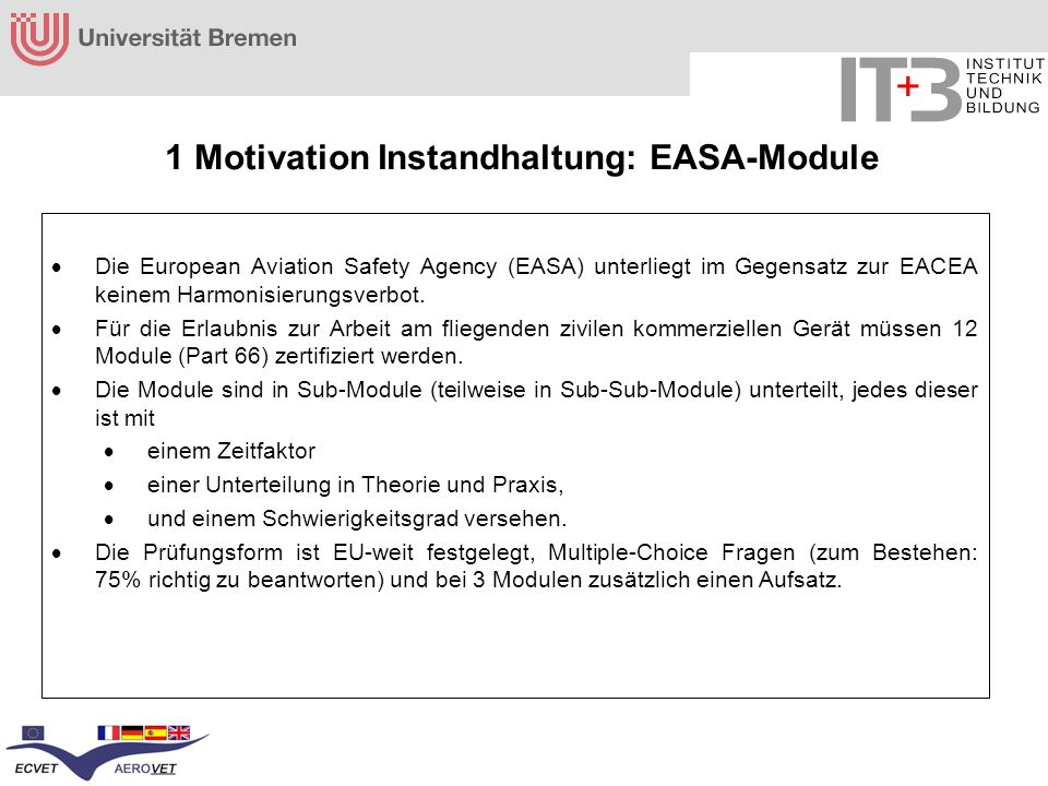 1 Motivation Instandhaltung: EASA-Module