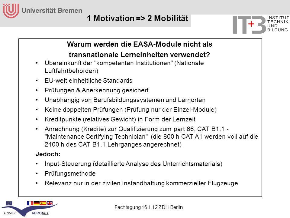 1 Motivation => 2 Mobilität