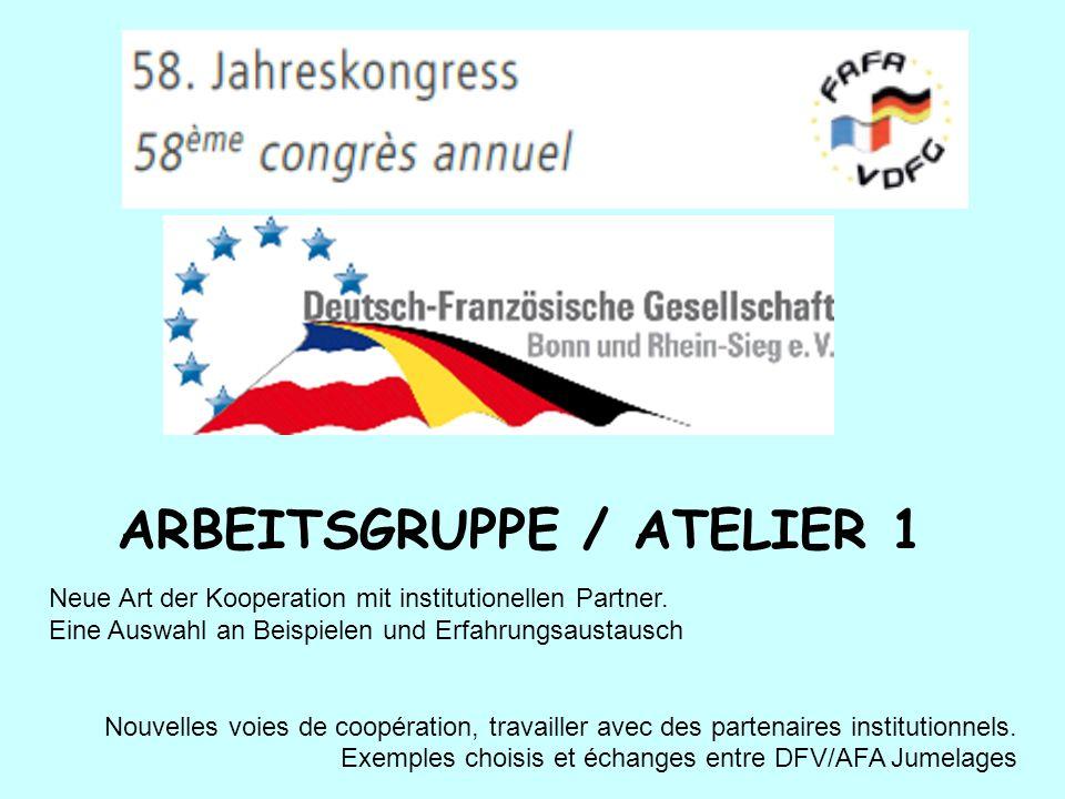 ARBEITSGRUPPE / ATELIER 1