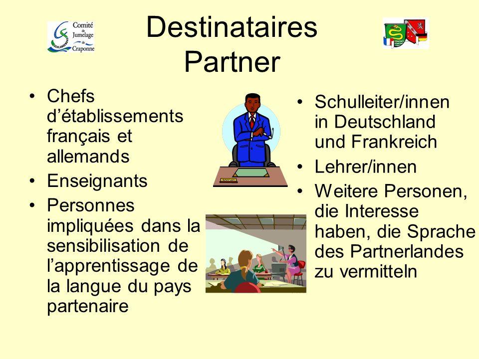 Destinataires Partner