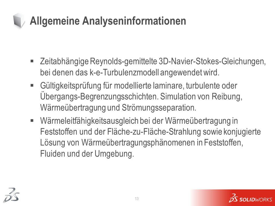 Allgemeine Analyseninformationen