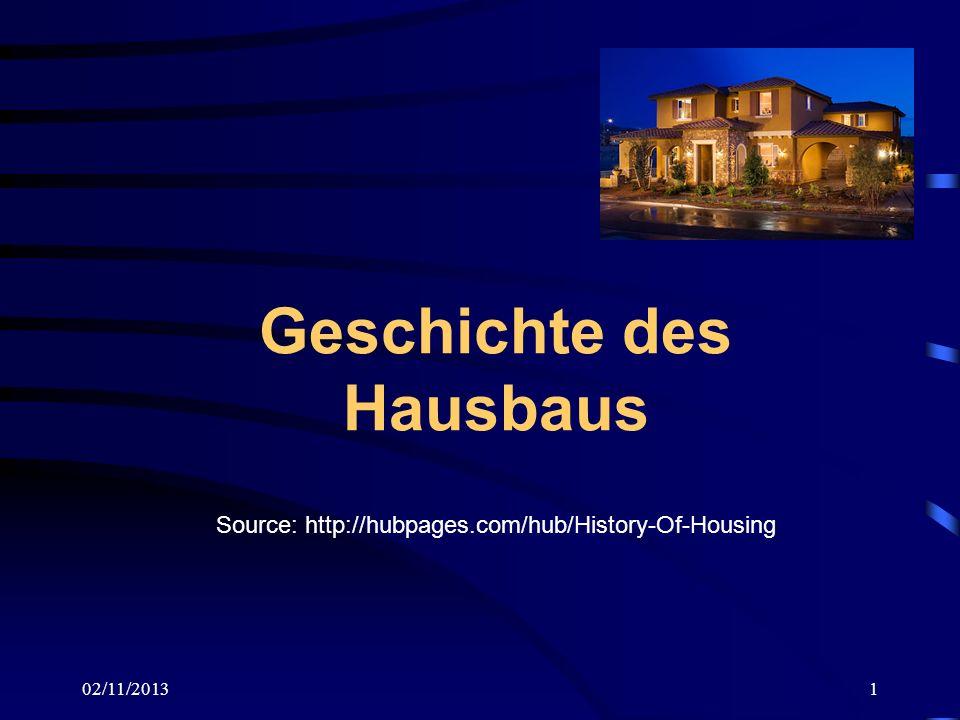 Geschichte des Hausbaus