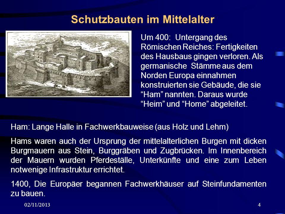 Schutzbauten im Mittelalter