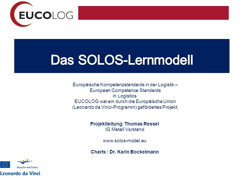 Projektleitung: Thomas Ressel Charts : Dr. Karin Bockelmann