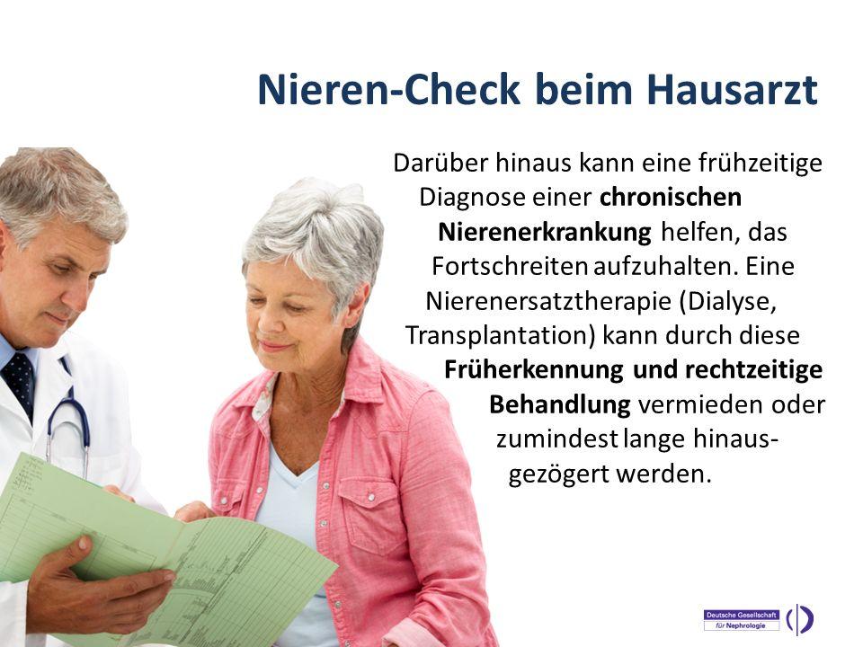 Nieren-Check beim Hausarzt
