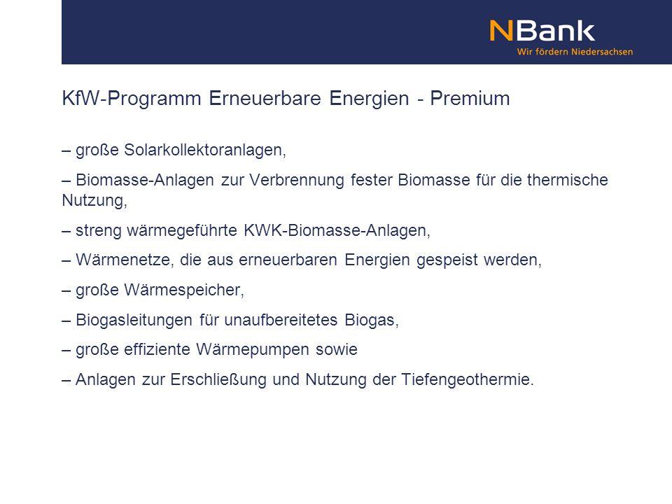 KfW-Programm Erneuerbare Energien - Premium