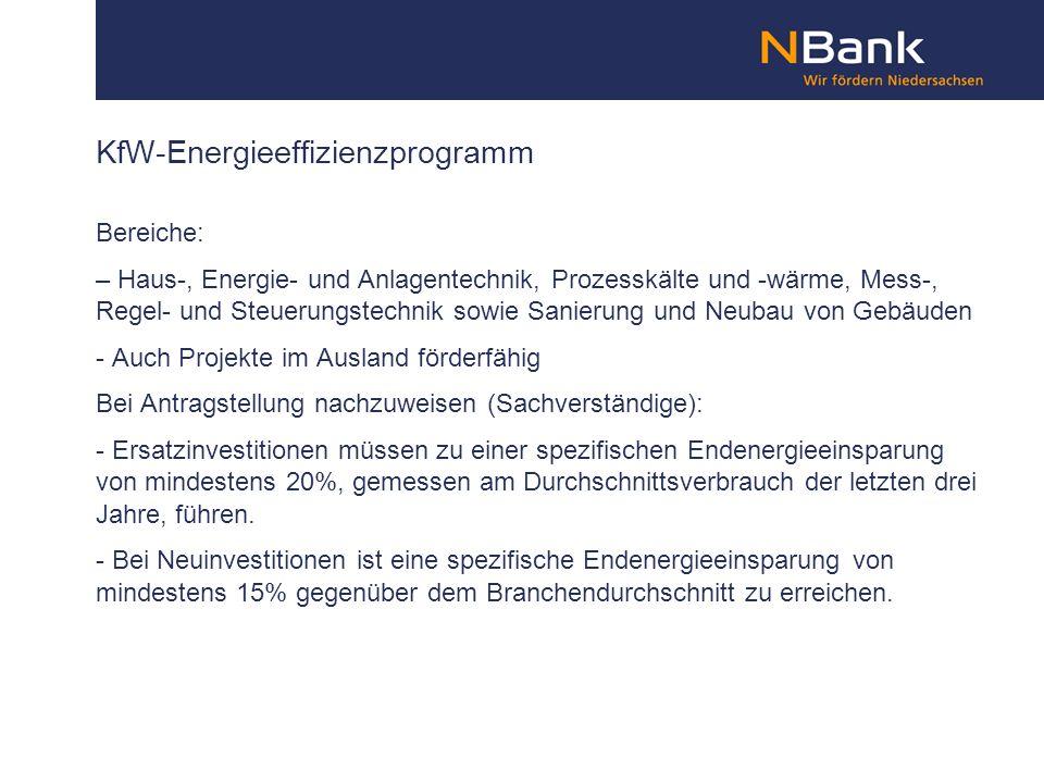 KfW-Energieeffizienzprogramm