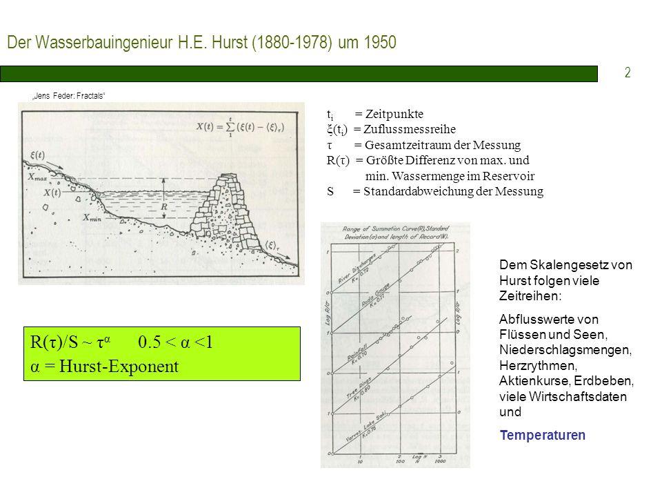 Der Wasserbauingenieur H.E. Hurst (1880-1978) um 1950