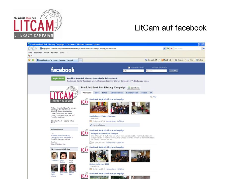 LitCam auf facebook