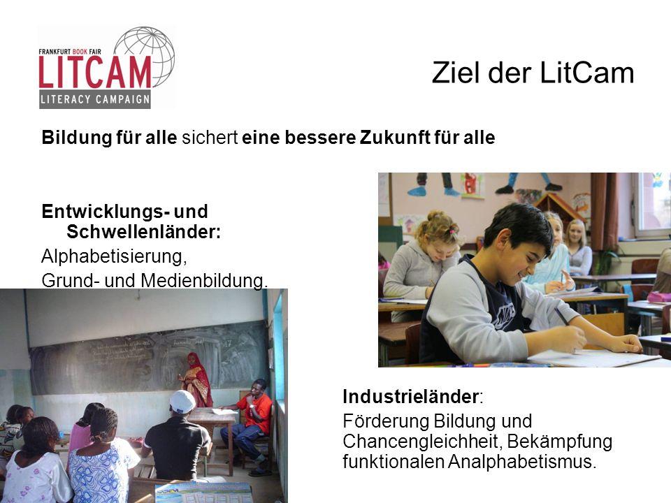 Ziel der LitCam Bildung für alle sichert eine bessere Zukunft für alle