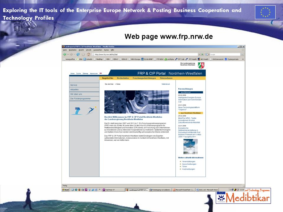 Exploring the IT tools of the Enterprise Europe Network & Posting Business Cooperation and Technology Profiles