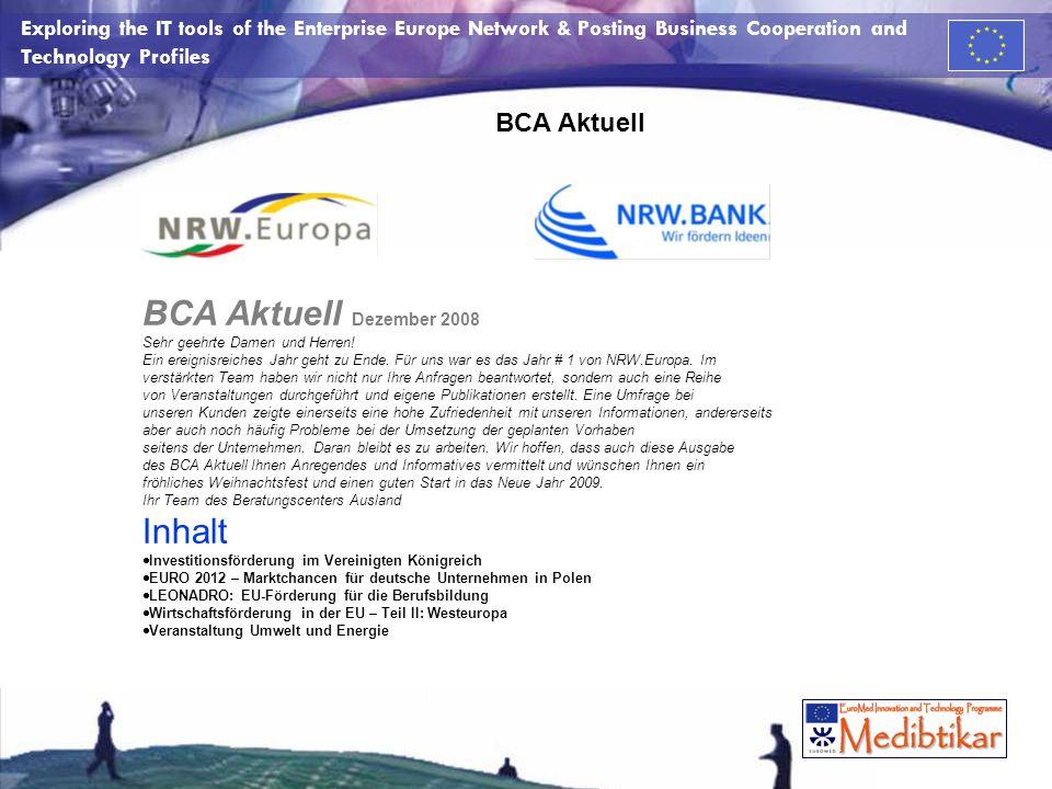 BCA Aktuell Dezember 2008 Inhalt BCA Aktuell