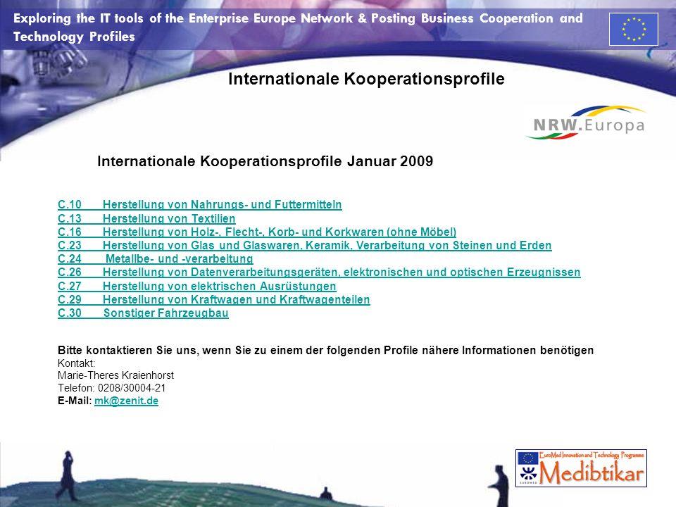 Internationale Kooperationsprofile