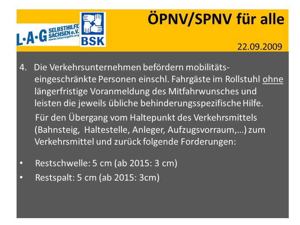 ÖPNV/SPNV für alle 22.09.2009