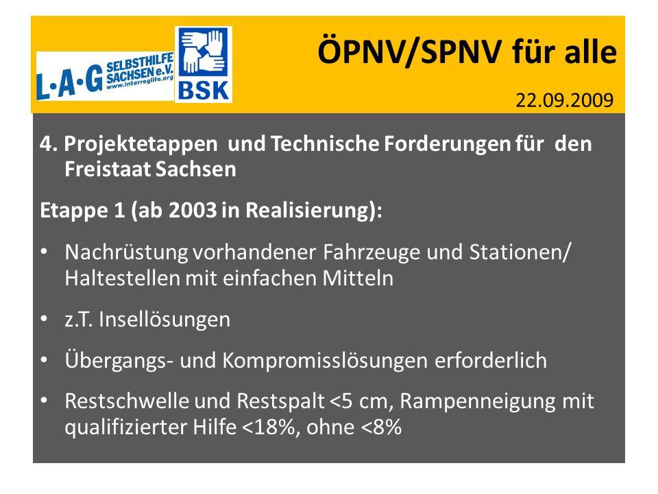 ÖPNV/SPNV für alle 22. 09. 2009 SBV SMS 27. 07. 2009 AGSV SN + BW 05