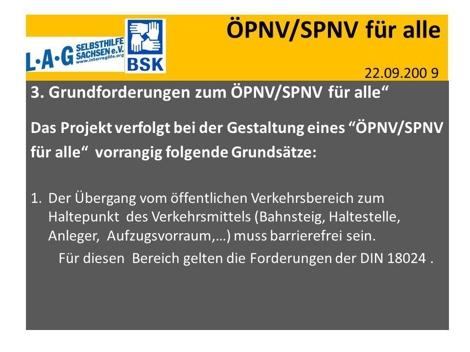 ÖPNV/SPNV für alle 22.09.200 9