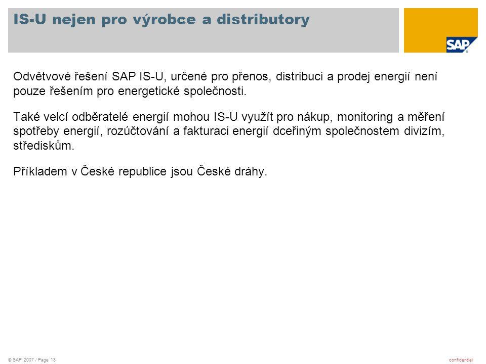IS-U nejen pro výrobce a distributory