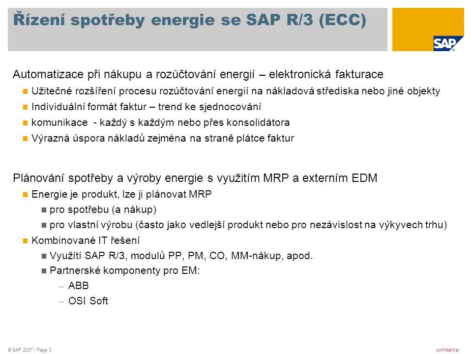 Řízení spotřeby energie se SAP R/3 (ECC)