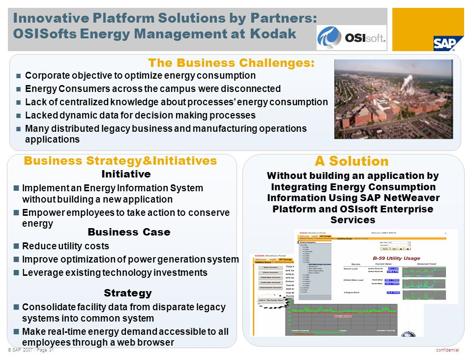 Innovative Platform Solutions by Partners: OSISofts Energy Management at Kodak