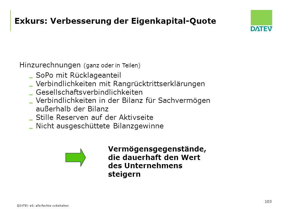 Exkurs: Verbesserung der Eigenkapital-Quote