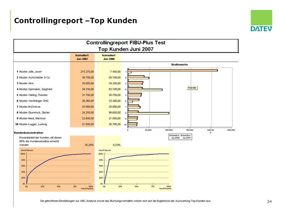 Controllingreport –Top Kunden
