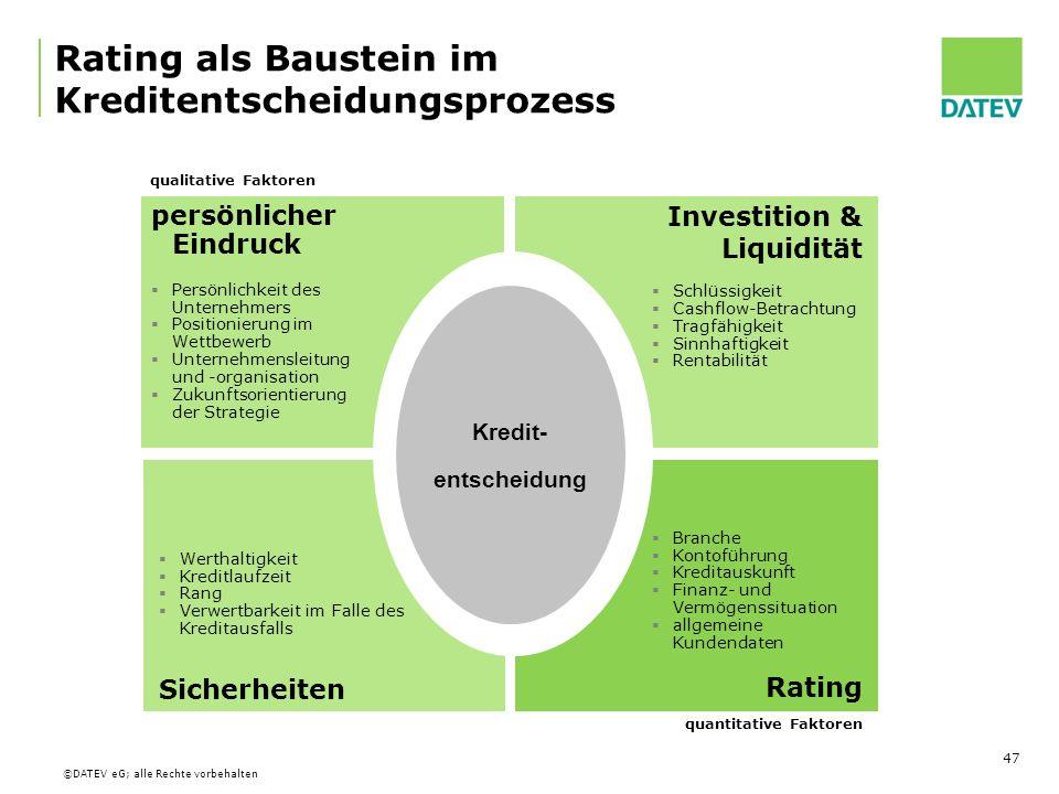 Rating als Baustein im Kreditentscheidungsprozess