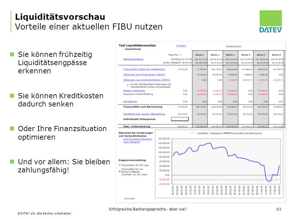 Liquiditätsvorschau Vorteile einer aktuellen FIBU nutzen