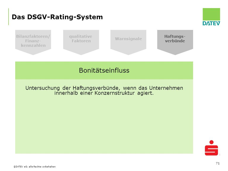 Das DSGV-Rating-System