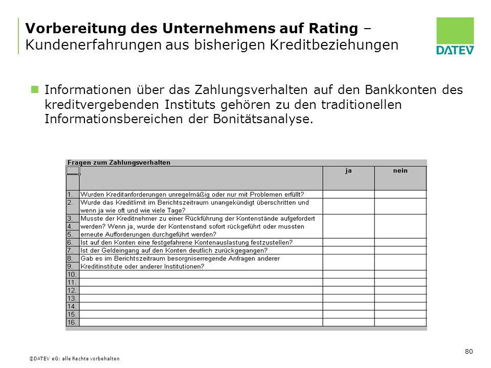 Vorbereitung des Unternehmens auf Rating – Kundenerfahrungen aus bisherigen Kreditbeziehungen