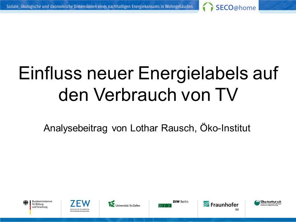 Einfluss neuer Energielabels auf den Verbrauch von TV