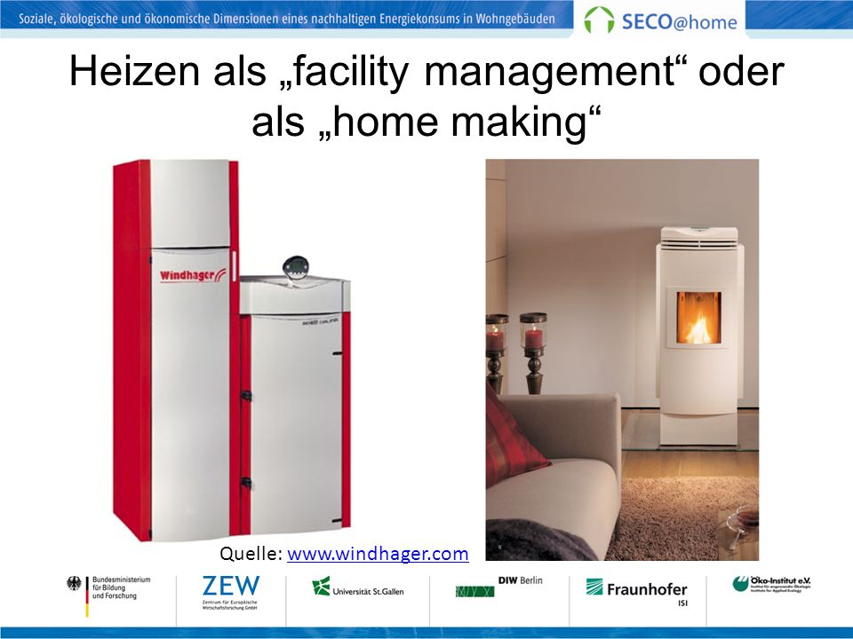 """Heizen als """"facility management oder als """"home making"""