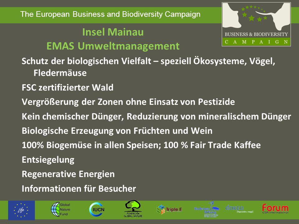 Insel Mainau EMAS Umweltmanagement