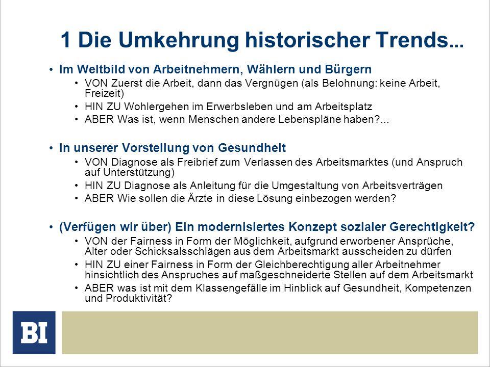 1 Die Umkehrung historischer Trends...