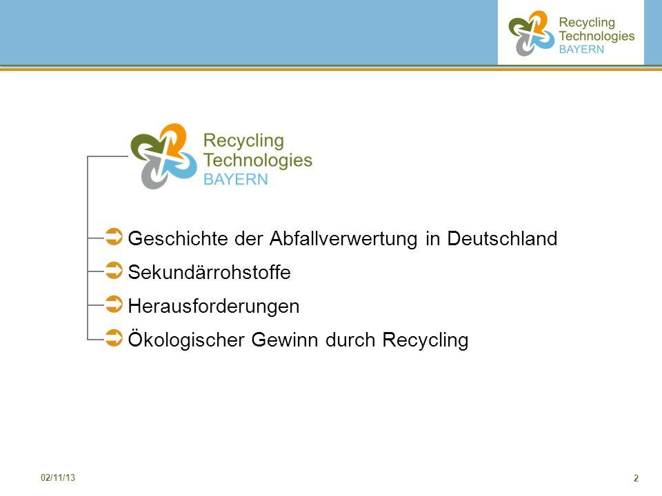 Geschichte der Abfallverwertung in Deutschland Sekundärrohstoffe