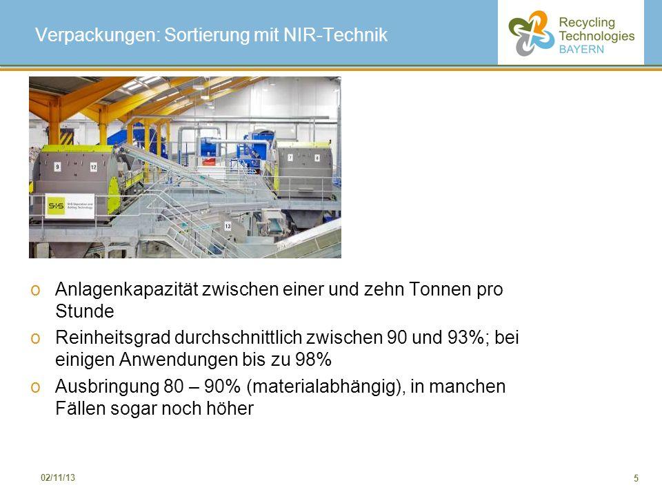 Verpackungen: Sortierung mit NIR-Technik
