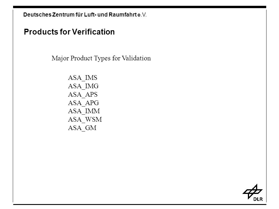 Products for Verification