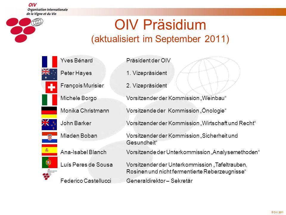 OIV Präsidium (aktualisiert im September 2011)