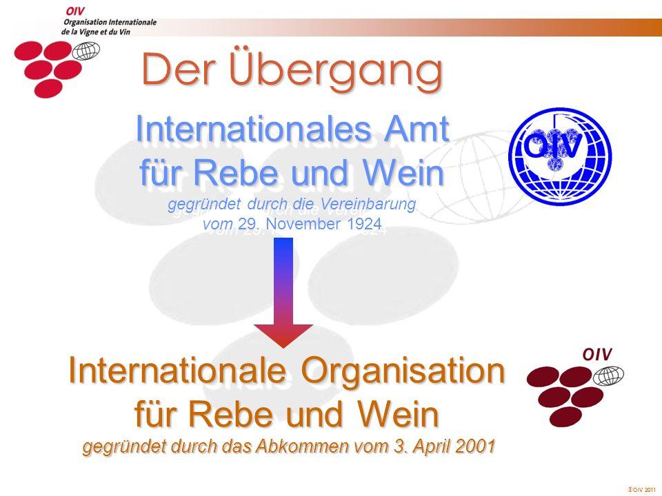 Der Übergang Internationales Amt für Rebe und Wein gegründet durch die Vereinbarung vom 29. November 1924.
