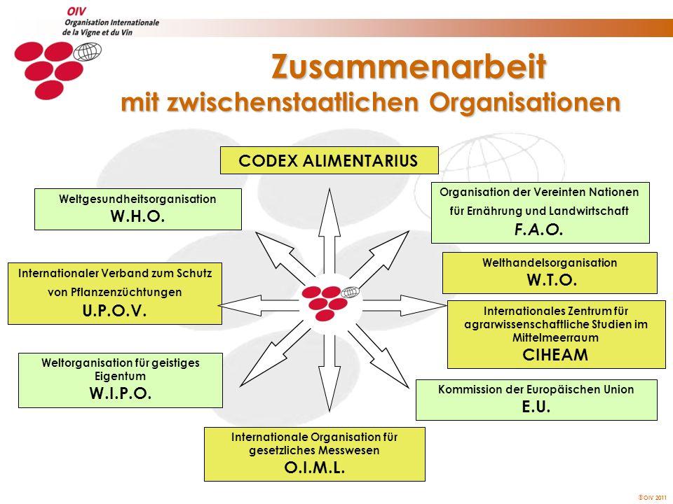 Zusammenarbeit mit zwischenstaatlichen Organisationen
