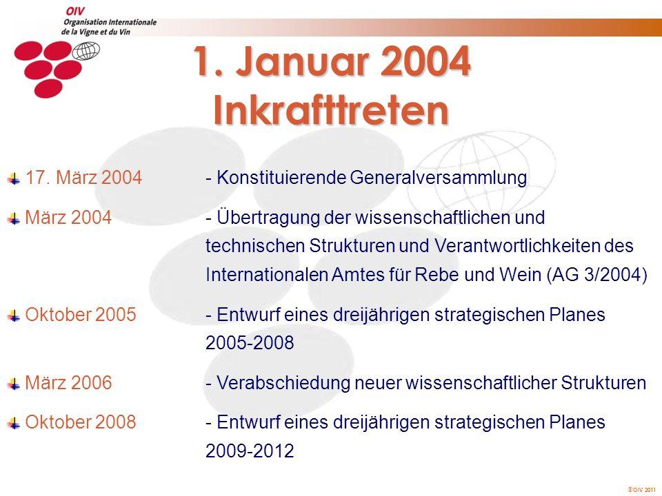 1. Januar 2004 Inkrafttreten 17. März 2004 - Konstituierende Generalversammlung.