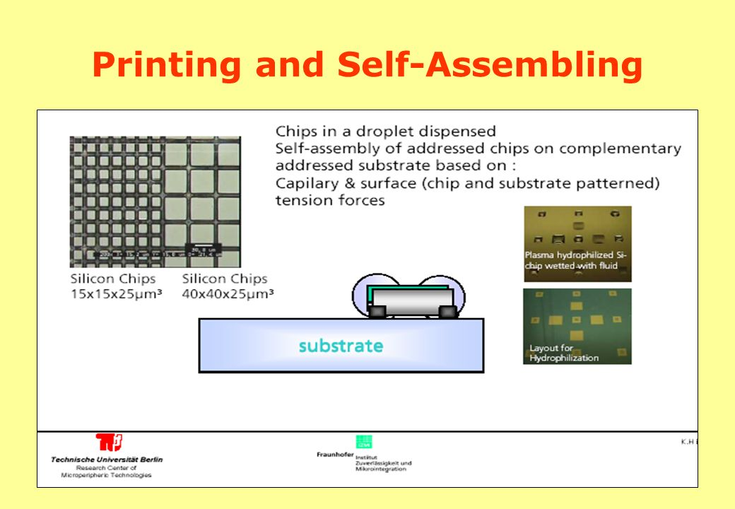 Printing and Self-Assembling