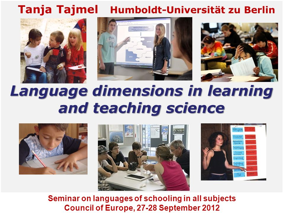 Language dimensions in learning and teaching science
