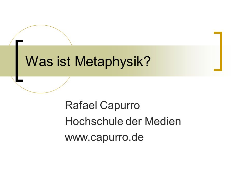 Rafael Capurro Hochschule der Medien www.capurro.de