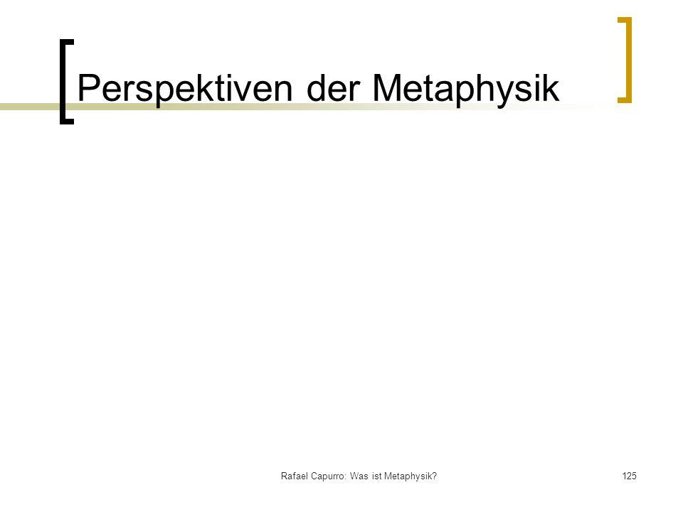 Perspektiven der Metaphysik