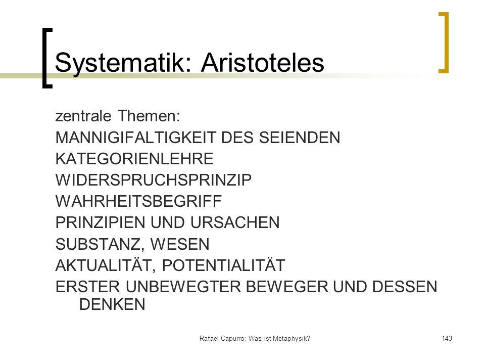 Systematik: Aristoteles